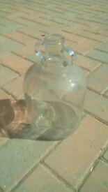 Small glass demi-john 25 cm tall