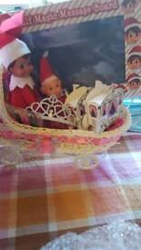 elf in a pram