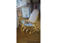 Rattan rocking chair - Bentwood style