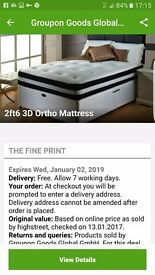 Brand new 2ft 6 3d ortho mattress