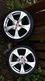 """Wolfrace 17"""" alloy wheels"""
