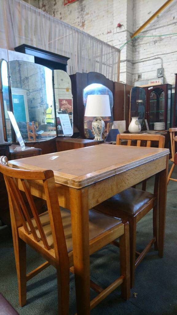 Vintage Dining Table And 2 Chairs Delivery Available Newcastle Tyne