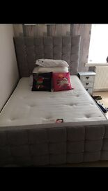 DOUBLE BED FRAME!! Only 2 months old, beautiful big bed !!