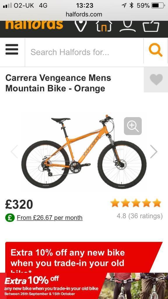 Mens Carrera 24 speed mountain bike, BRAND NEE