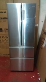 Haier silver fridge freezer ex display