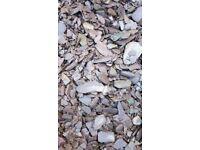 1.5+ tonnes plum slate chippings
