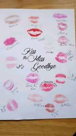 Kiss the miss goodbye posters