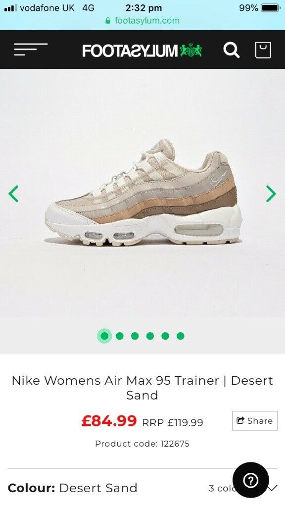 Nike air max 95 size 3 nude brown cream brand new in box  fed2b6367