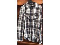 Superdry shirt checked pattern. Smart casual Medium VGC