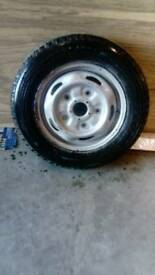 Transit van tyre and wheel