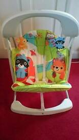 Fisher-Price Woodland Friends Take-Along Baby Swing