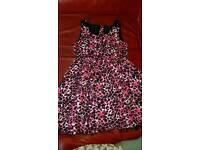 Leopard print dress, 2 jackets 9-10yrs