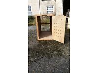 Two Large Wooden Dog Crate - Airline Approved - Will seperate