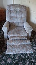 TWO RECLINING ARMCHAIRS