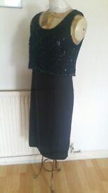 Vintage JOHN MARKS LONDON Designer Dress. Size : 10