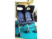 Twin Triumph Maclaren Double Pushchair / buggy