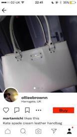 Kate spade cream leather handbag