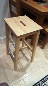 LIKE NEW EXCELLENT CONDITION IKEA BOSSE BAR STOOL FOR SALE x2 - £20/each
