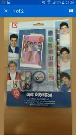 Official One Direction 5 Piece Stationery Set X 5