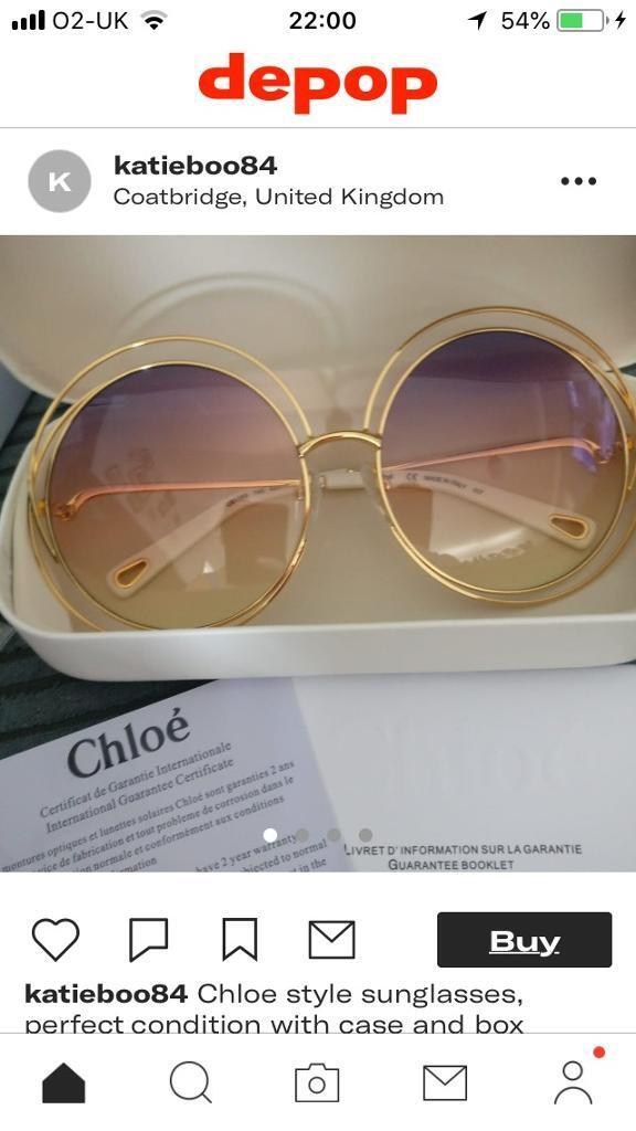 0205f01c2a Chloe Style Sunglasses with case and box