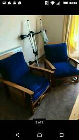 Bergere chairs pair of