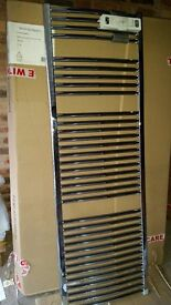 Chrome towel rail radiator