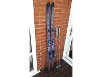 Rossignol skis&poles 67 inches long
