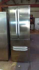 HOTPOINT American-Style Fridge Freezer - Stainless Steel new ex display