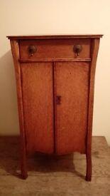 Art Nouveau Music / Record Cabinet in Oak