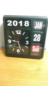 Karlsson Large FlipCalendar Desk or Wall Clock