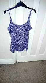 Purple cream vest top size 10 BNWT