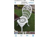 X4 cast iron garden Chairs ( not aluminium)