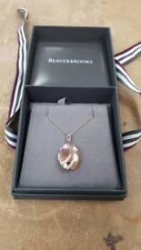 9ct rose gold locket necklace