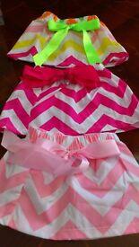 Baby girls summer skirts, brand new, age 0 - 6 months