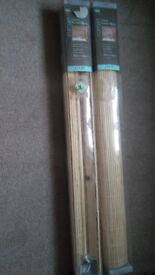 2xNew classic roller blinds (90cm x 160cm) - £5 for both - original price £14.99 each