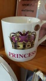 Prince or princess mugs