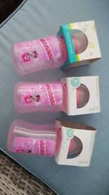 3 trusip baby soft spout cups minnie mouse