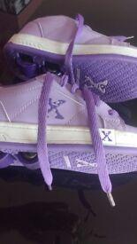 pink/purple heelies size uk 12 heelys wheelies skate shoes pink/purple heelies size uk 12