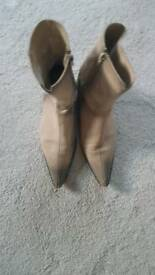 Ladies leather ankle boots size 5