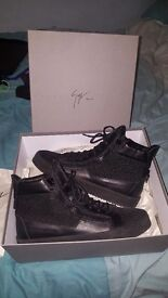 Mens Black Hi-Top Giuseppe Zanotti Shoe| UK 11 EUR 45