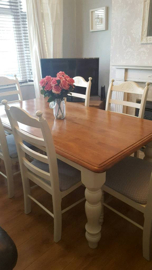 farmhouse dining table and six chairs  in patchway