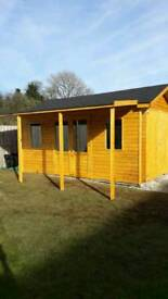 Summer House with veranda with drive in garage