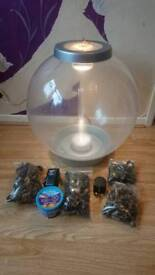 REEF ONE BIORB CLASSIC 60 FISH TANK WITH NEW FILTER NEW MEDIA NEW AIRSTONE *3