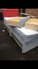 Single sensaform Divan Storage Base and Headboard