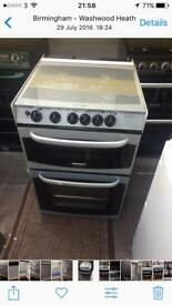 Silver cannon 55cm gas cooker grill & double ovens good condition with guarantee