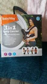 3in1 baby carrier like new