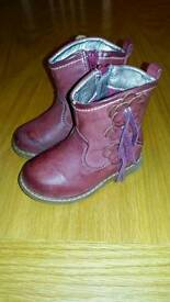 GIRLS RED BOOTS matalan size 5