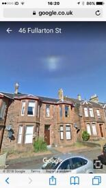1 bed unfurnished flat Kilmarnock to rent