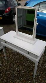 Stag minstrel 1 drawer console table and mirror