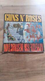 Appetite for Destruction LP - Guns N Roses - Banned sleeve - good condition, FREE UK POSTAGE